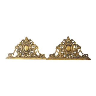 Bronze Ornate Furniture Castings - A Pair For Sale