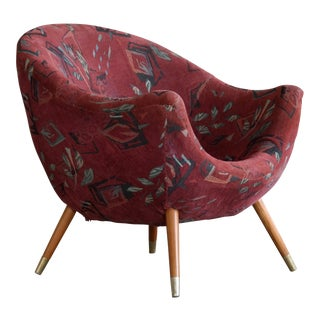 Italian Mid-Century Lounge Chair in the Style of Gio Ponti Ca. 1960 For Sale