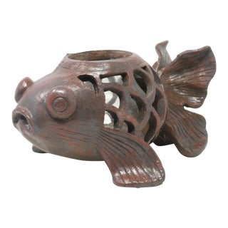 Goldfish Lantern Candle Holder For Sale