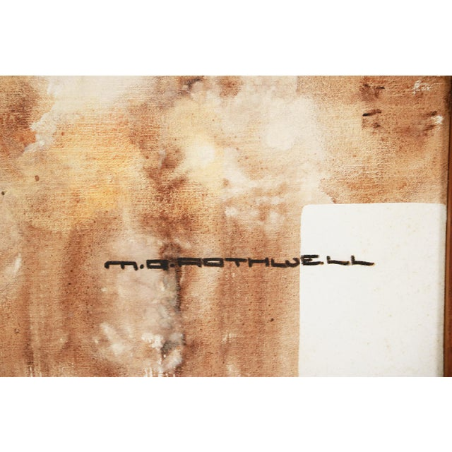 Mid-Century Modern Michael Quincy Rothwell Mid Century Abstract Expressionist Original Oil Painting Signed For Sale - Image 3 of 11