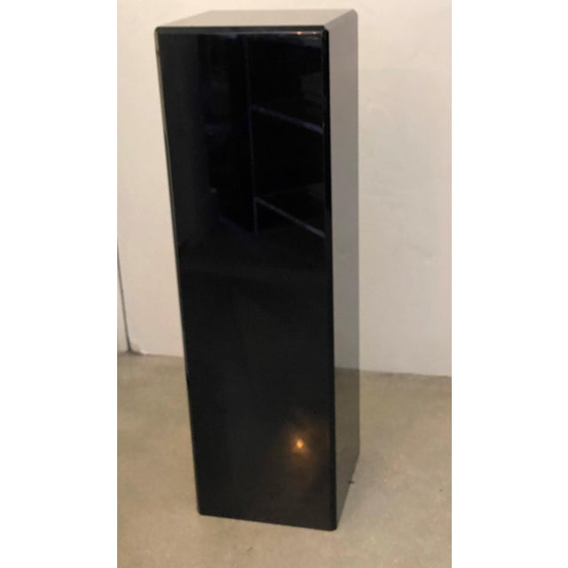 "Contemporary Vintage Pedestal Black Lucite 26.5"" High For Sale - Image 3 of 12"