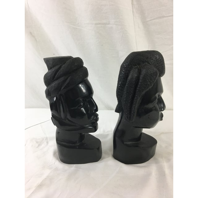 These awesome, carved heads from Gabon are fascinating to look at. Made of ebonized wood, they date from the 1950's and...