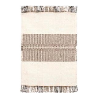 """Mid Century Handwoven Wool Accent Floor Rug - 2'6"""" × 3'4"""""""