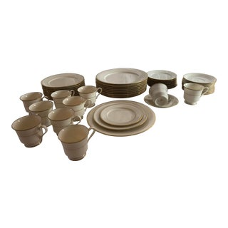 50 Pieces Gorham Elegance Gold Wedding China,10 Place Settings For Sale