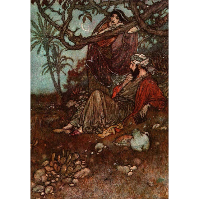 """Booth & Williams 1952 """"Rubaiyat of Omar Khayyam, Illustrated by Edmund Dulac"""" Collectible Book For Sale - Image 4 of 5"""