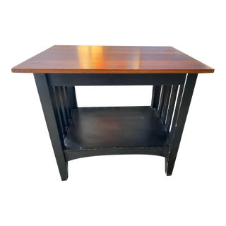Ethan Allen Dual Tone Accent Table For Sale