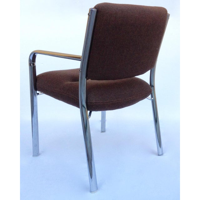 1970s Mid-Century ChromCraft Chrome Arm Chair For Sale - Image 5 of 11