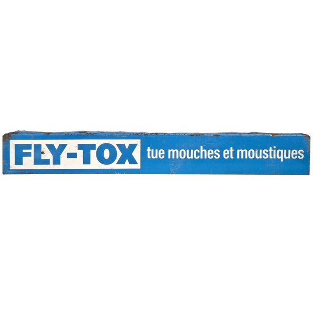 Vintage French Metal Fly-Tox Sign - Image 1 of 3