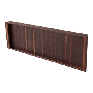 Rosewood Tray with Vertical Stripes by Don Shoemaker For Sale