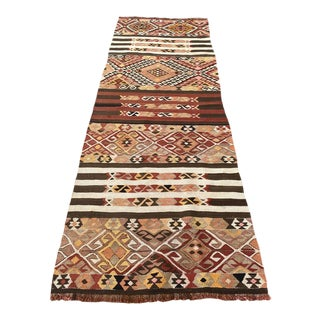 Vintage Turkish Cecim Kilim Rug For Sale