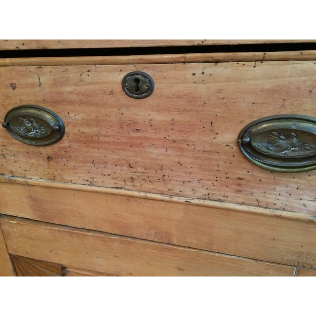 Charming Old Rustic Pine Linen Press Cabinet - Image 4 of 11