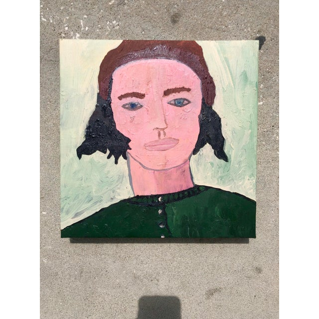 Virginia Chamlee Contemporary Oil Portrait by Virginia Chamlee For Sale - Image 4 of 4