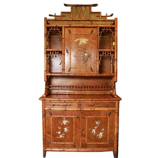 Perret & Vibert French Bamboo Cabinet For Sale