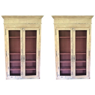 Pair of French Painted Cabinets For Sale