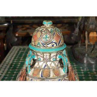 Antique Moroccan Ceramic Jar With Lid Preview