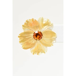 Mother-Of-Pearl Jackets Citrine Stud Gold Earrings Preview