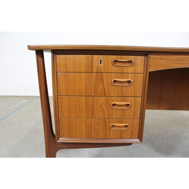 Teak Mid-Century Danish Modern Svend Aage Madsen Teak Desk For Sale - Image 7 of 12