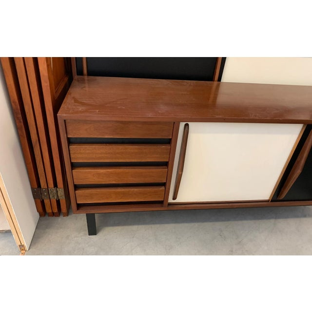 Charlotte Perriand 1958 Mid-Century Modern Charlotte Perriand for Steph Simon Cansado Cabinet For Sale - Image 4 of 5