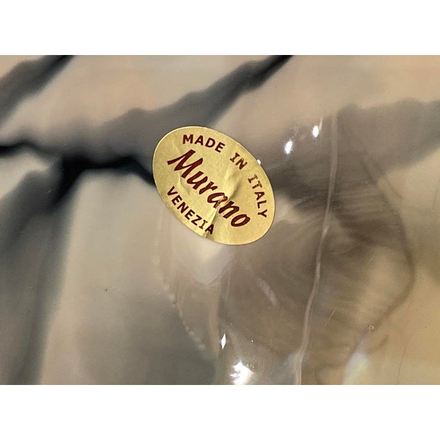 Murano Glass Folded Seashell Bowl For Sale In Dallas - Image 6 of 7
