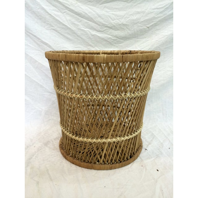 Rattan Wastebasket - Image 2 of 6