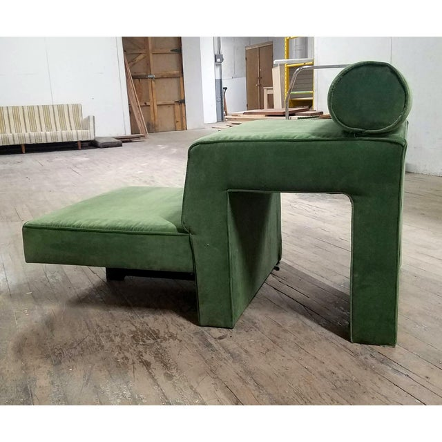 """Vladimir Kagan 1970s Vintage Vladimir Kagan """"Omnibus"""" Chaise Lounge For Sale - Image 4 of 4"""