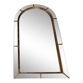 Labarge Style Piedmont Regency Arch French Mirror