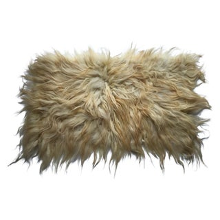 "Handmade Natural Wool Shaggy Tulu Rug - 4'2"" X 2'7"" For Sale"