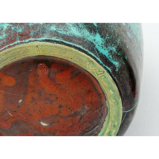 Metal Glazed Pottery Vases by Richard Uhlemeyer, 1940s - Set of 2 For Sale - Image 7 of 13