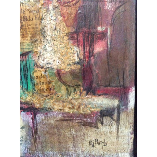 Signed Mixed-Media Abstract Painting - Image 7 of 7