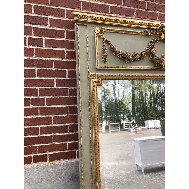 Early 18th Century 18th C. French Louis XV Trumeau Mirror For Sale - Image 5 of 9
