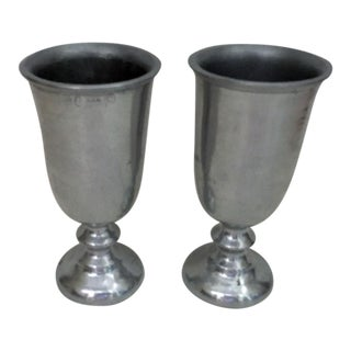 Wilton Armetale Pewter Goblets -- A Pair