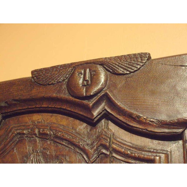 18th C. Provincial Wood Carved Door Panel For Sale In New Orleans - Image 6 of 8