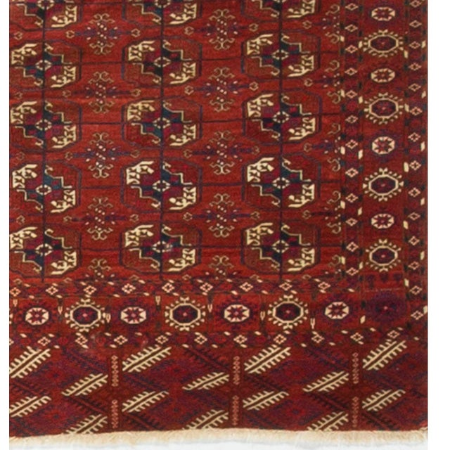 """Traditional 19th Century Tekke Bokhara Rug - 3'7"""" X 4'7"""" For Sale - Image 3 of 4"""