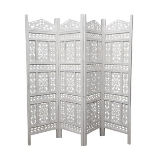 White Moorish Folding Screen For Sale