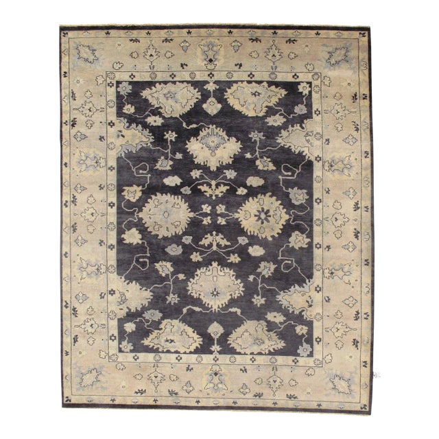 """Traditional Pasargad N Y Original Oushak Design Hand-Knotted Rug - 8'1"""" X 9'10"""" For Sale"""