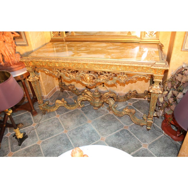 Late 19th Century Antique French Console Table For Sale - Image 12 of 12