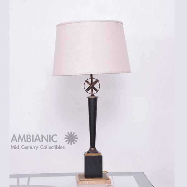 Mid-Century Period Regency Style Table Lamp Attributed to Arturo Pani - Image 7 of 10
