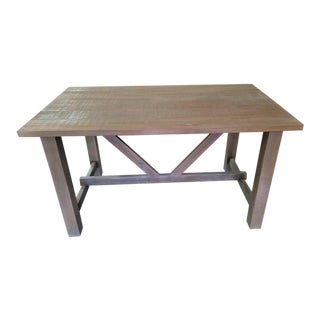 Farmhouse Style Salvaged Wood Dining Table Restoration Hardware Look For Sale