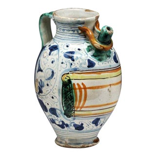 Italian 18th C. Majolica Wet Drug or Syrup Jar For Sale