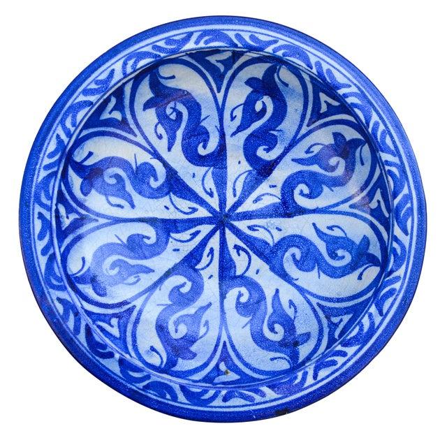 Ceramic Moorish-Patterned Ceramic Plate For Sale - Image 7 of 7