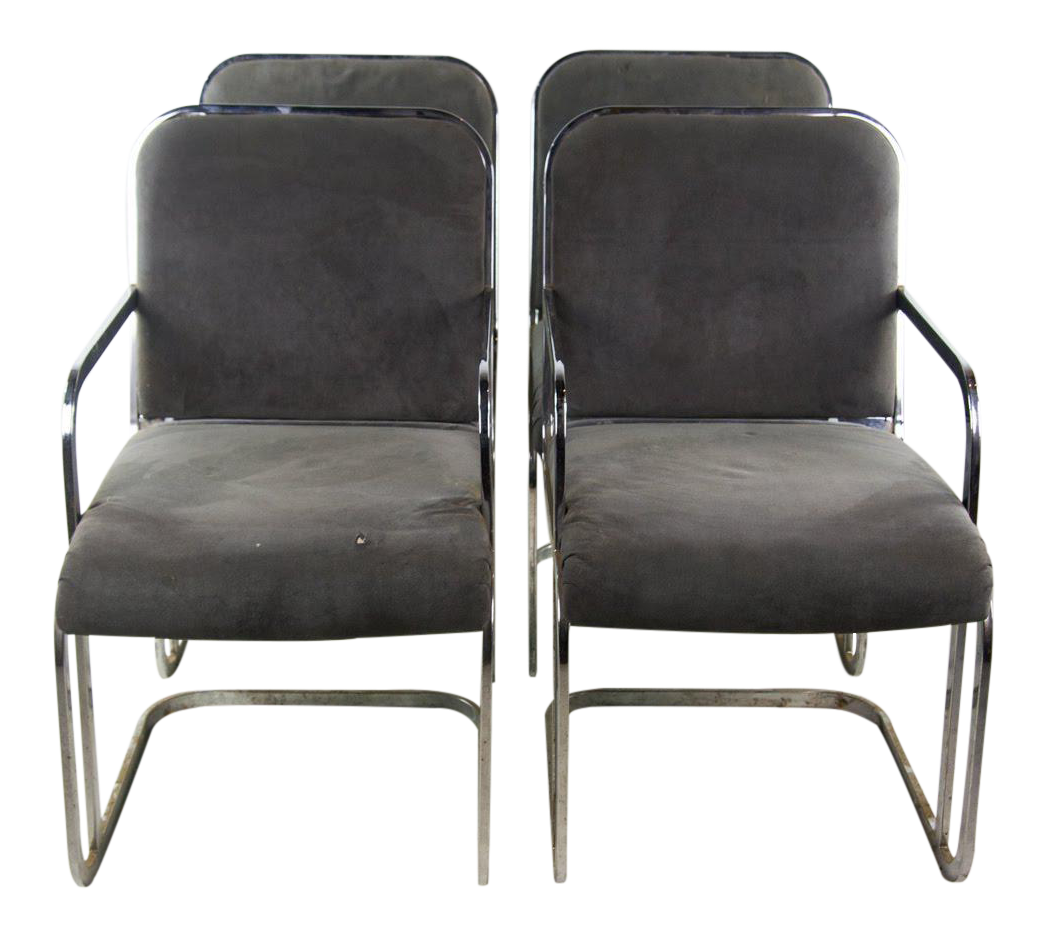 Janus Designs Mid Century Modern Side Chairs   Set Of 4 For Sale