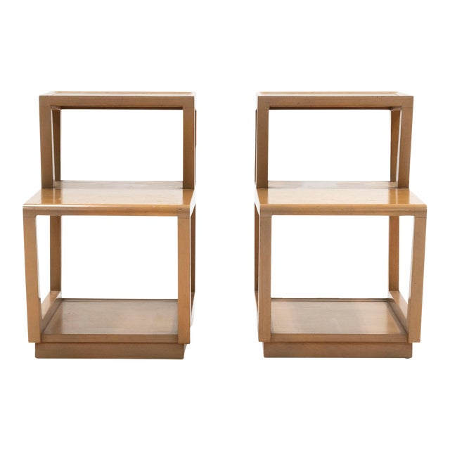 1940s Drexel Furniture by Edward Wormley Precedent Step Tables - a Pair For Sale