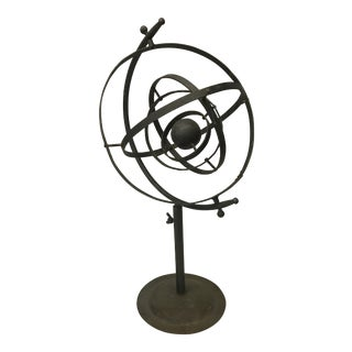 Vintage Iron Armillary Sphere Sculpture