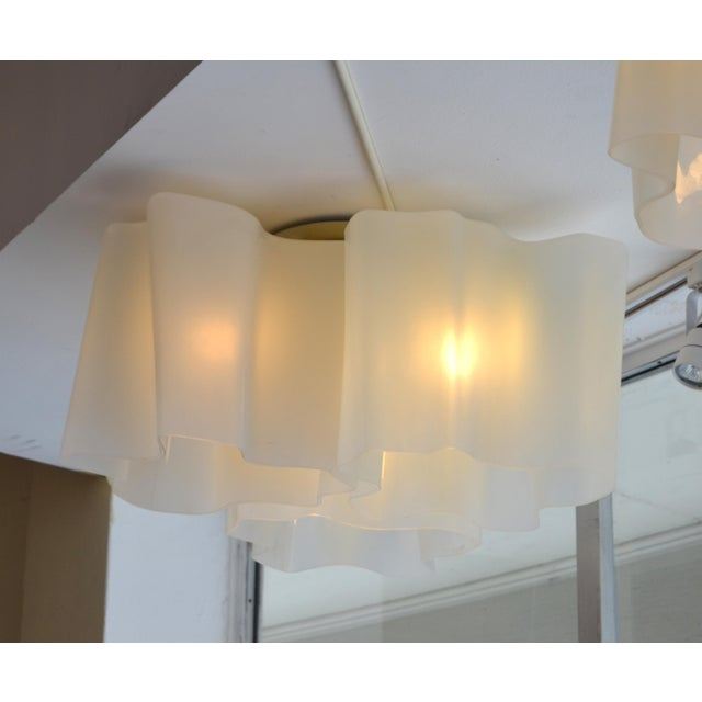 Transparent Modern Logico Triple Nested Semi-Flush Mount by Artemide Italy For Sale - Image 8 of 12