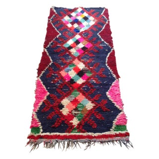"""Moroccan Red, Pink & Blue Runner - 2'5"""" X 6'"""