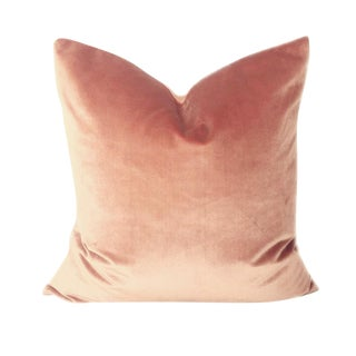 Riviera Rose Italian Silk Velvet Pillow