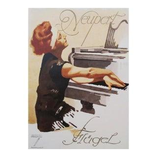 1927 German Mini Poster, Newport Piano