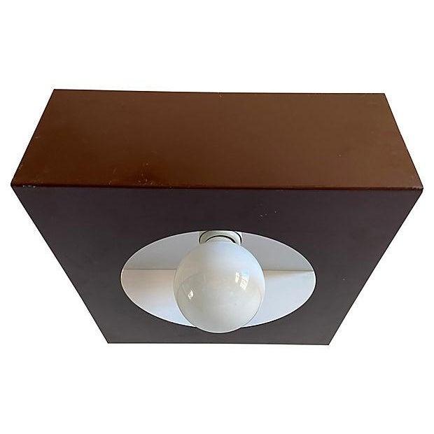 1970s Geometric Steel Light For Sale - Image 10 of 11