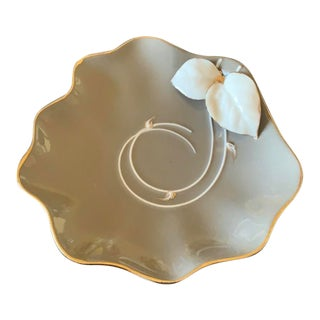 Mid-Century Modern Porcelain Ashtray by Newell Studios Ca For Sale