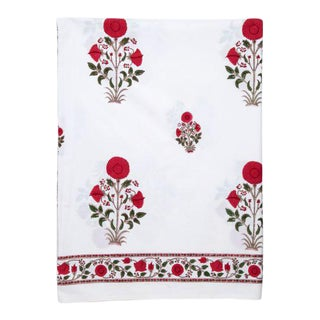 Amaya Twin-XL Bed Red Flat Sheet For Sale